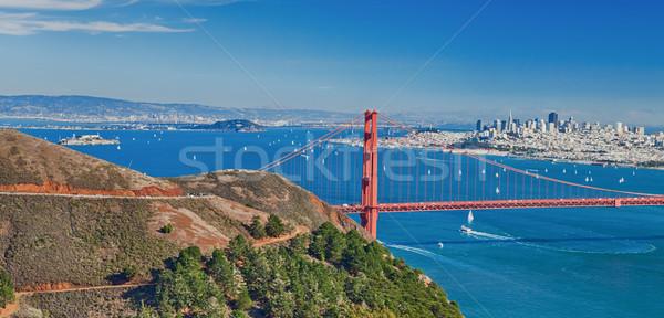 Stock photo: San Francisco Panorama w the Golden Gate bridge