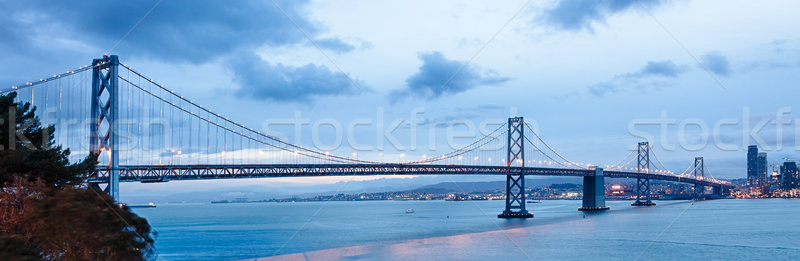 San Francisco Bay bridge Stock photo © hanusst