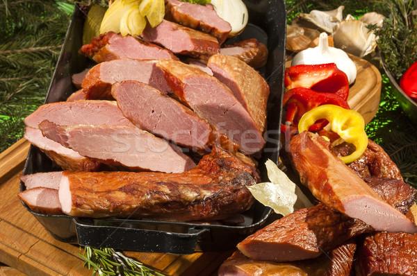 Smoked Boars Loin Stock photo © hanusst