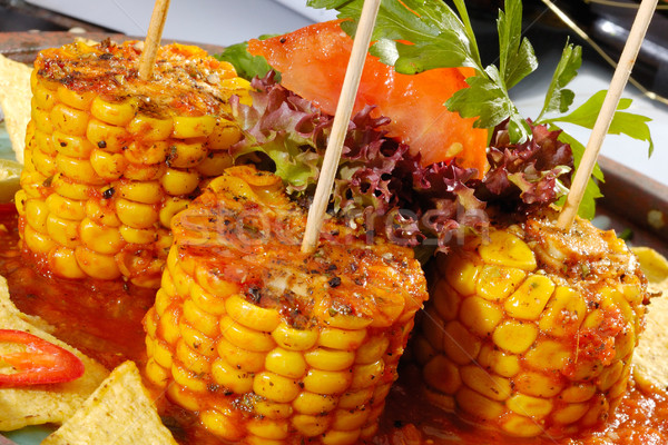 Baked corn with salsa Stock photo © hanusst