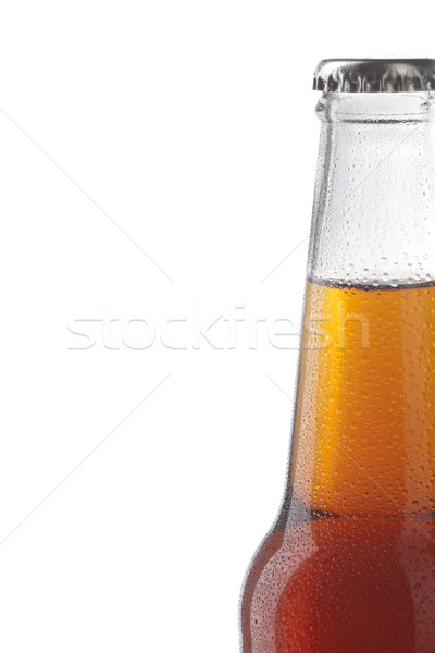 Soda bottle alcoholic drink with water drops Stock photo © hanusst