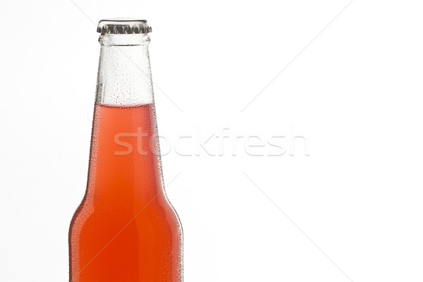 Soda bottle, alcoholic drink with water drops Stock photo © hanusst