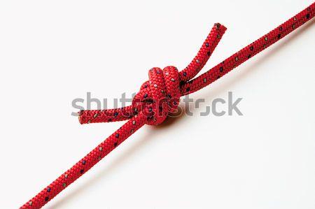 Csomó piros kötél erős biztonság kábel Stock fotó © hanusst