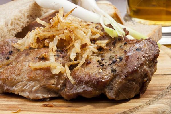 Varkensvlees lendenen ui groene Stockfoto © hanusst