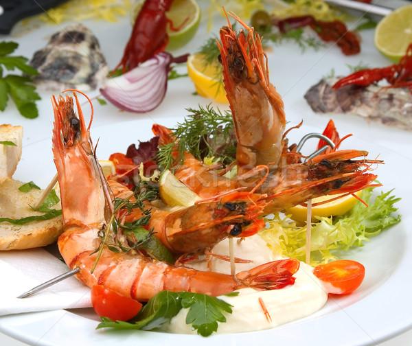 Grilled Shrimps Stock photo © hanusst