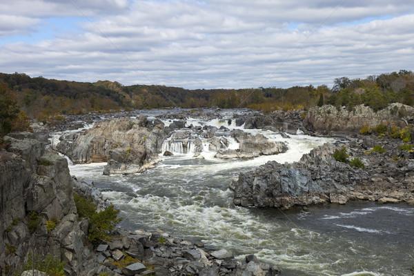 Groot park Virginia USA rivier wolken Stockfoto © hanusst