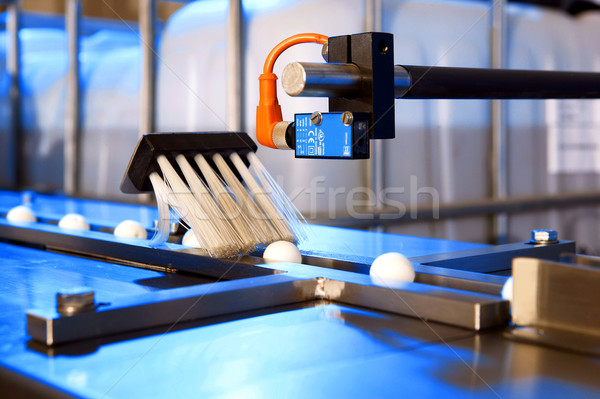 Factory cleaning and filling machine Stock photo © hanusst