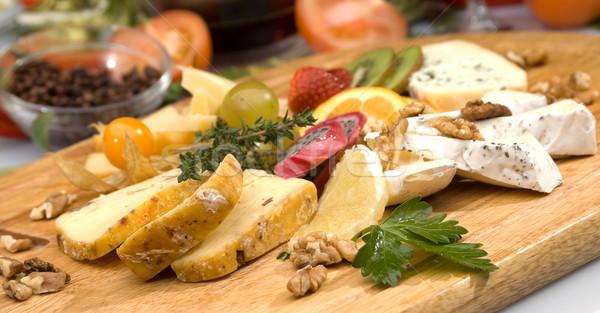 Kaas plaat achtergrond rook Rood Stockfoto © hanusst