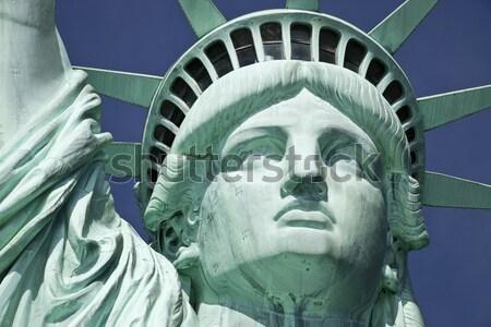 Heykel özgürlük detay ada New York mavi Stok fotoğraf © hanusst