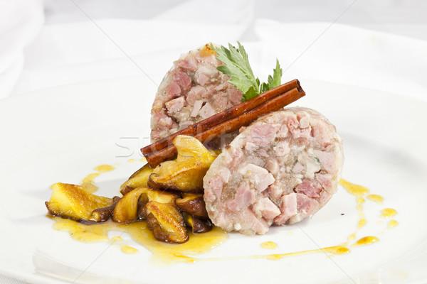 грибы куриные мяса завтрак голову жира Сток-фото © hanusst