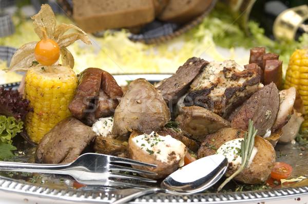 Carne grelhada mexicano estilo casa saúde Foto stock © hanusst