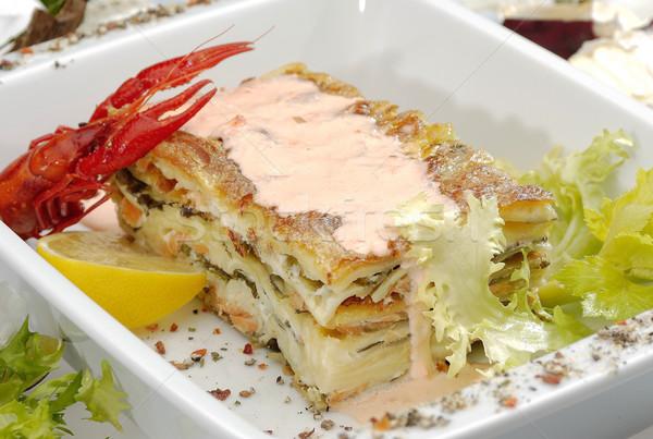 Italiano lasaña tradicional fondo queso cena Foto stock © hanusst