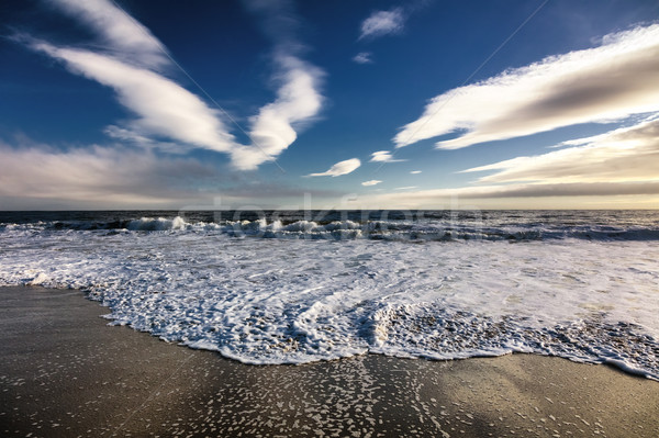 Beautiful scenery on the sea shore, the waves and beach Stock photo © hanusst