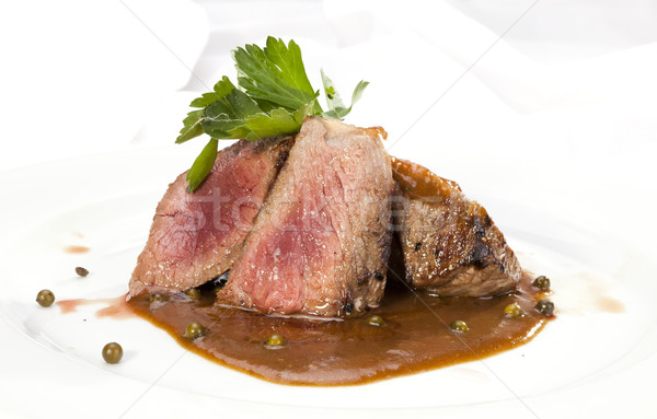 Grilled Sirloin with pepper sauce Stock photo © hanusst