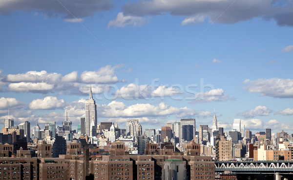 The New York City skyline Stock photo © hanusst
