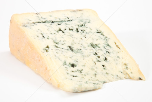 Wedge of full fat soft blue cheese Stock photo © hanusst