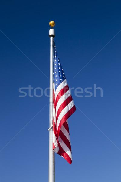 USA zászló égbolt szél csillag hullám Stock fotó © hanusst