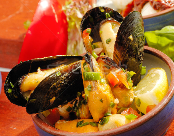 Spicy mussels Stock photo © hanusst