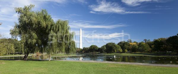 Washington Monument puesta de sol ciudad azul bandera noche Foto stock © hanusst
