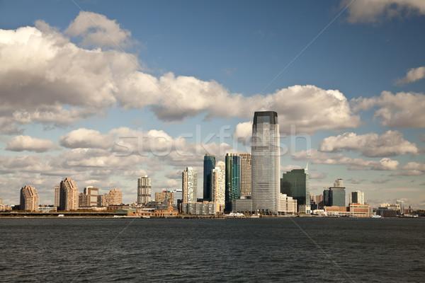 New Jersey şehir sonbahar güneş iş gökyüzü Stok fotoğraf © hanusst