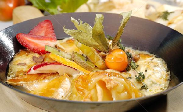 Fromages pan frit alimentaire pétrolières déjeuner Photo stock © hanusst