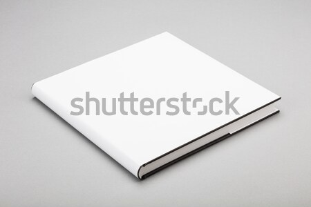 Blank book white cover 5,5 x 8 in Stock photo © hanusst