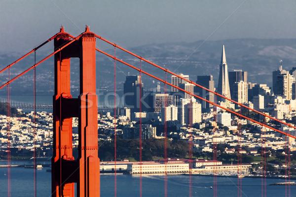 サンフランシスコ ゴールデンゲートブリッジ ビジネス 水 市 海 ストックフォト © hanusst
