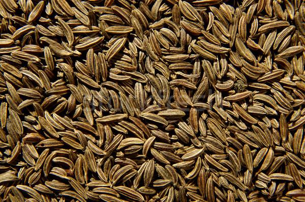 クミン 種子 テクスチャ 孤立した 黒 アジア ストックフォト © hanusst