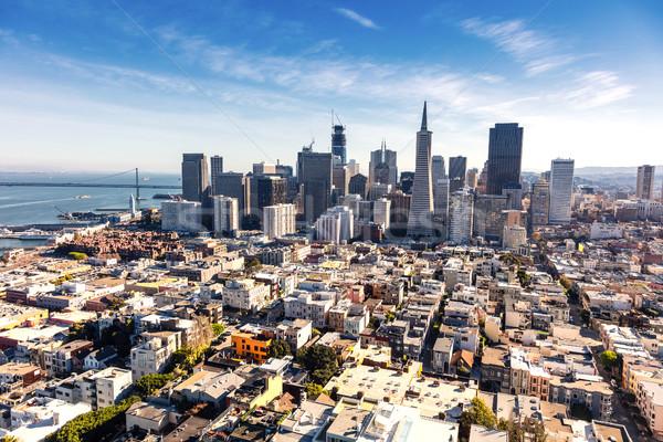 San Francisco centre-ville Californie affaires ciel ville Photo stock © hanusst