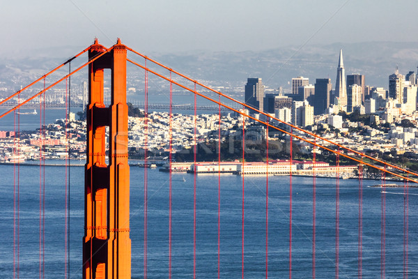 San Francisco with the Golden Gate bridge Stock photo © hanusst