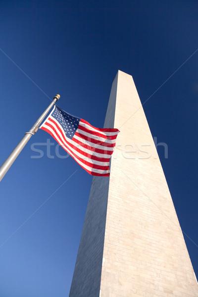 Монумент Вашингтона закат небе здании город лет Сток-фото © hanusst