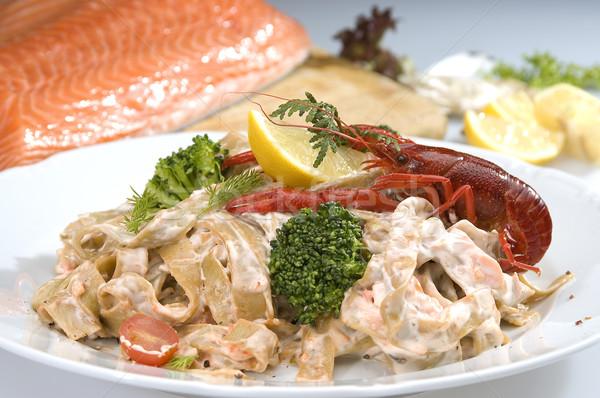 Italian seafood pasta Stock photo © hanusst