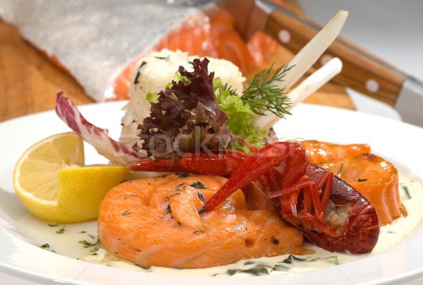 コメ 背景 レストラン 赤 レモン ストックフォト © hanusst