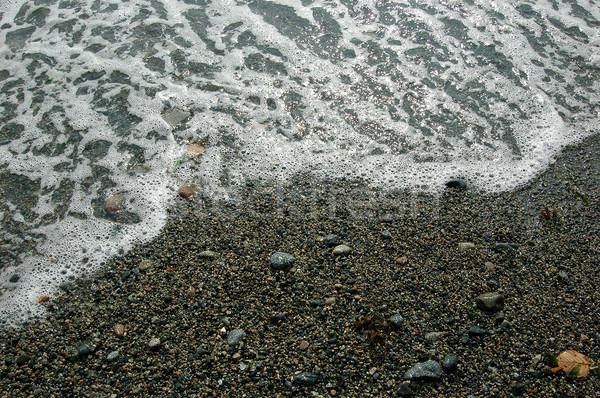 морем пена песок воды любви сердце Сток-фото © hanusst