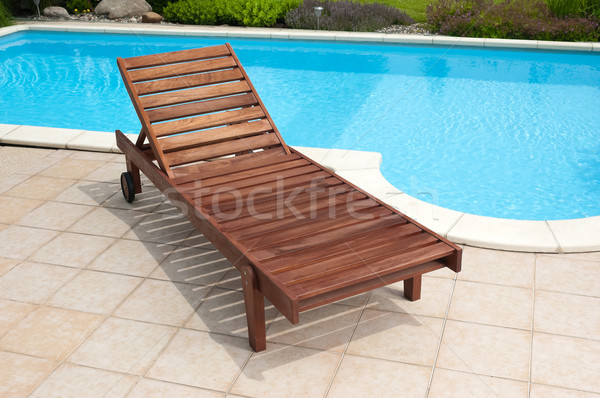 Bois chaise longue jardin permanent bureau texture Photo stock © hanusst