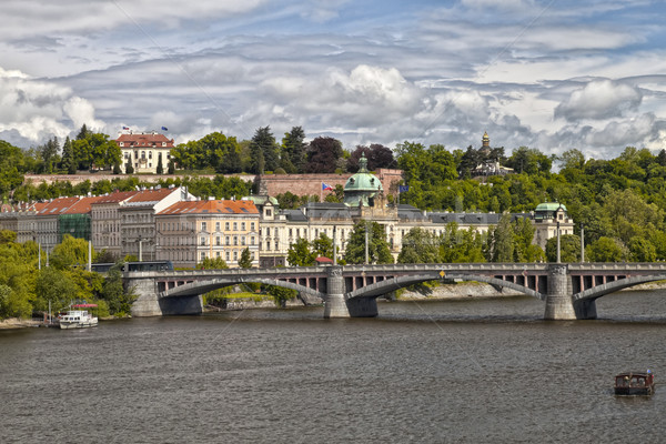 The View on Prague's Office of Goverments Stock photo © hanusst