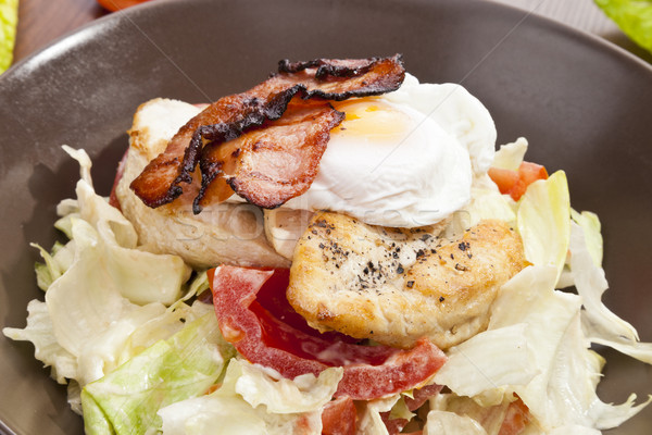 Caesar salad with Grilled Chicken breast Stock photo © hanusst