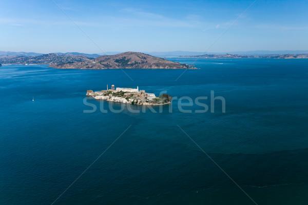 тюрьму Сан-Франциско воды город закат океана Сток-фото © hanusst