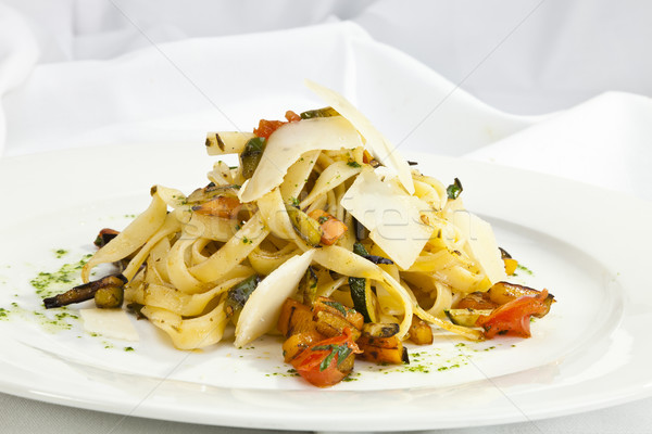 Italiaans pasta aubergine parmezaan textuur achtergrond Stockfoto © hanusst