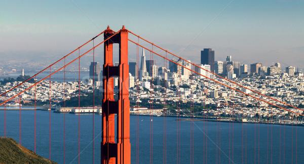 San Francisco Golden Gate Bridge negocios agua ciudad mar Foto stock © hanusst