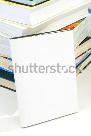 Könyvborító köteg könyvek iroda papír könyv Stock fotó © hanusst