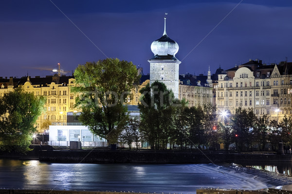 Prague Manes Tower Stock photo © hanusst
