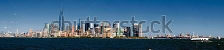 Panorama New York City and Brooklyn Stock photo © hanusst