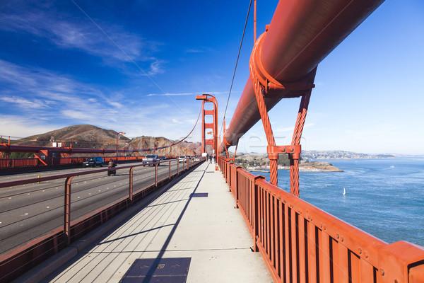 Golden Gate Bridge città San Francisco cielo acqua strada Foto d'archivio © hanusst
