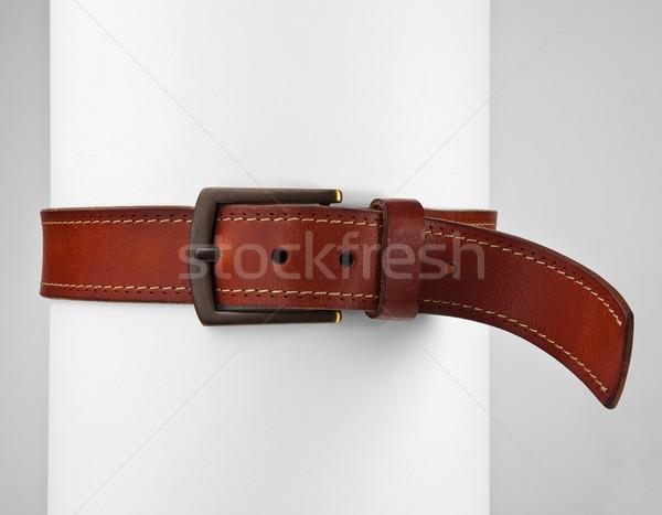 Cinto apertado em torno de rolar moda homens Foto stock © hanusst