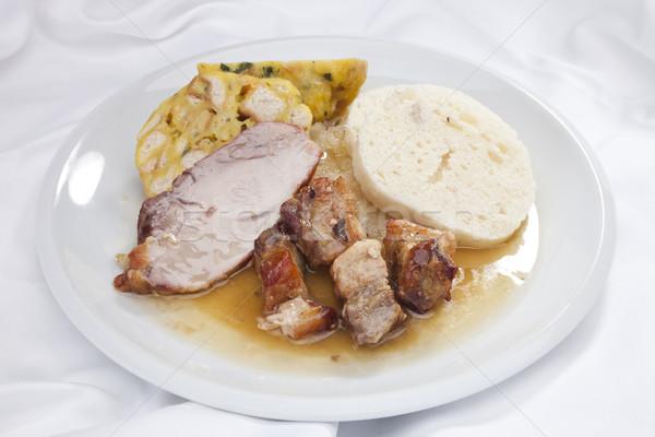 Baked pork chop Stock photo © hanusst