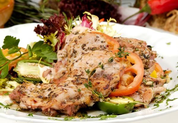 Grilled pork sirloin Stock photo © hanusst