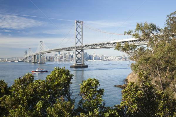 Сан-Франциско моста утра небе здании строительство Сток-фото © hanusst