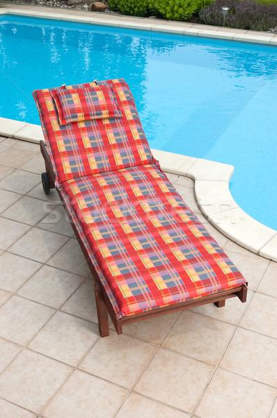 Wooden deckchair Stock photo © hanusst