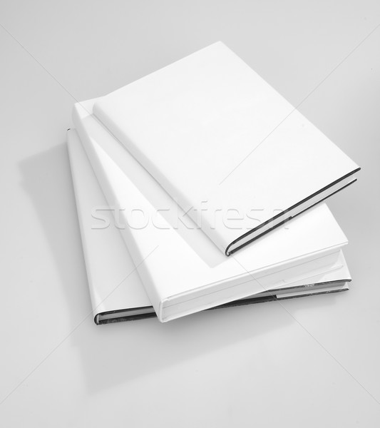 Three Blank book cover Stock photo © hanusst